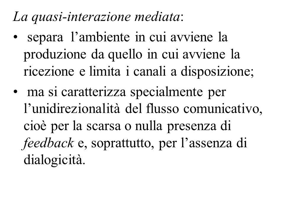 La quasi-interazione mediata: