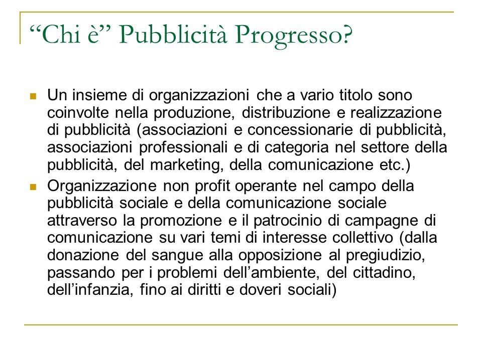 Chi è Pubblicità Progresso