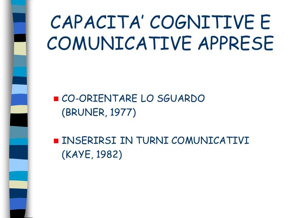 CAPACITA' COGNITIVE E COMUNICATIVE APPRESE
