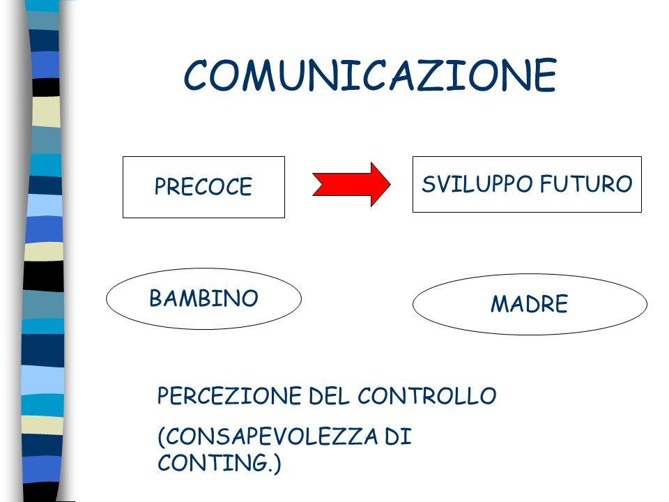 COMUNICAZIONE PRECOCE SVILUPPO FUTURO BAMBINO MADRE