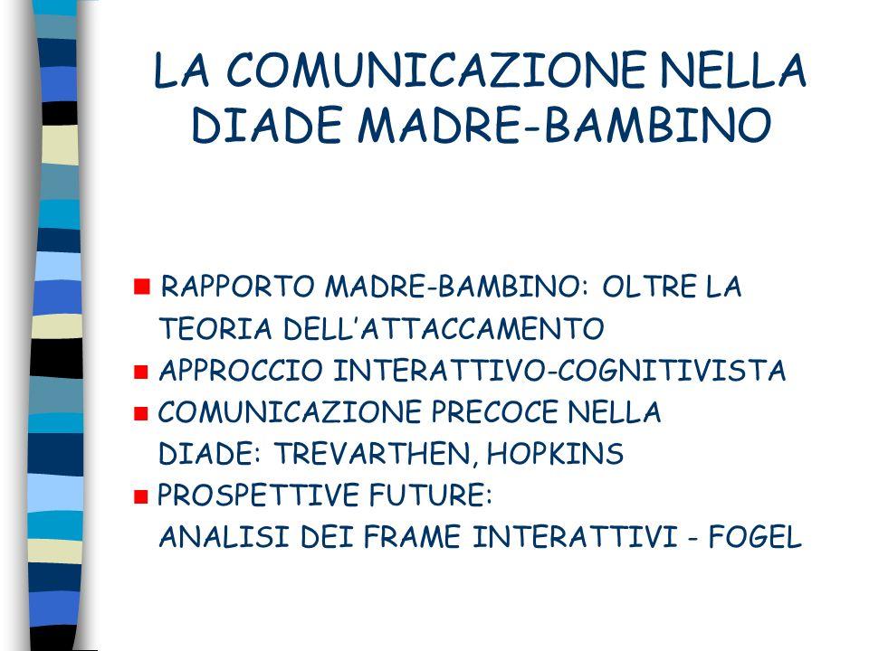 LA COMUNICAZIONE NELLA DIADE MADRE-BAMBINO