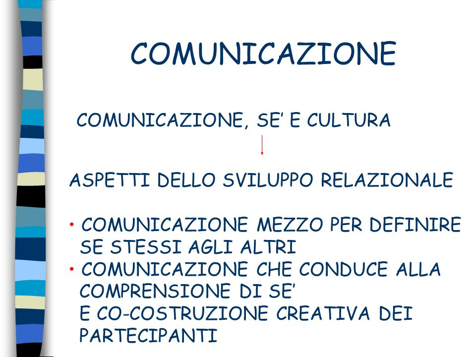 COMUNICAZIONE COMUNICAZIONE, SE' E CULTURA