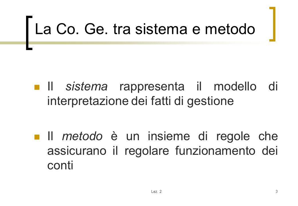 La Co. Ge. tra sistema e metodo
