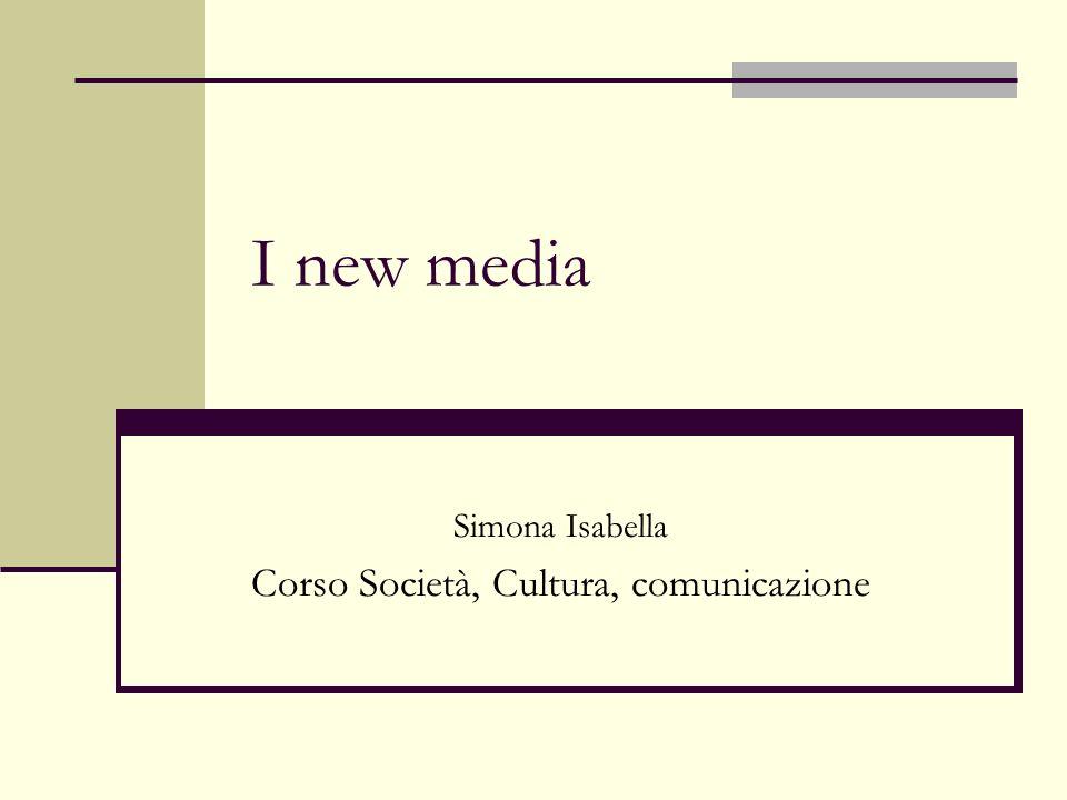 Simona Isabella Corso Società, Cultura, comunicazione