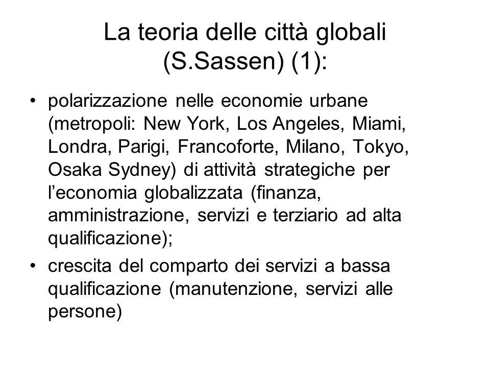 La teoria delle città globali (S.Sassen) (1):