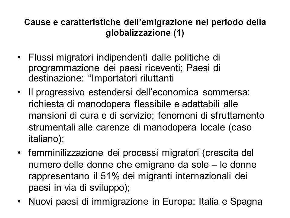 Nuovi paesi di immigrazione in Europa: Italia e Spagna