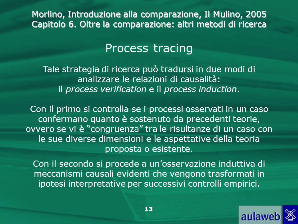 il process verification e il process induction.