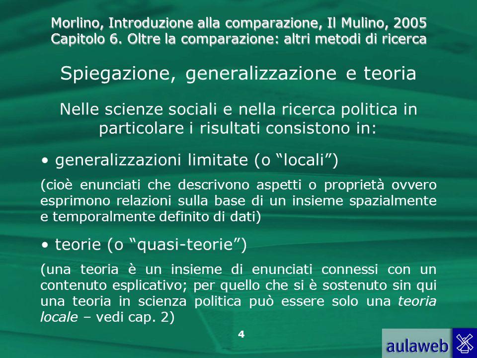 Spiegazione, generalizzazione e teoria