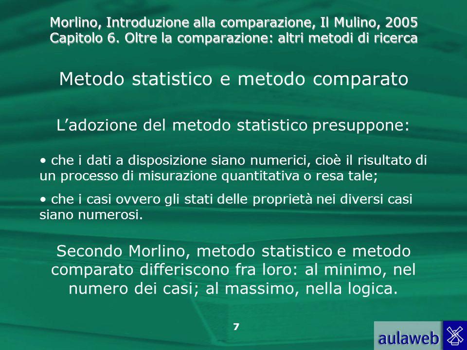 Metodo statistico e metodo comparato