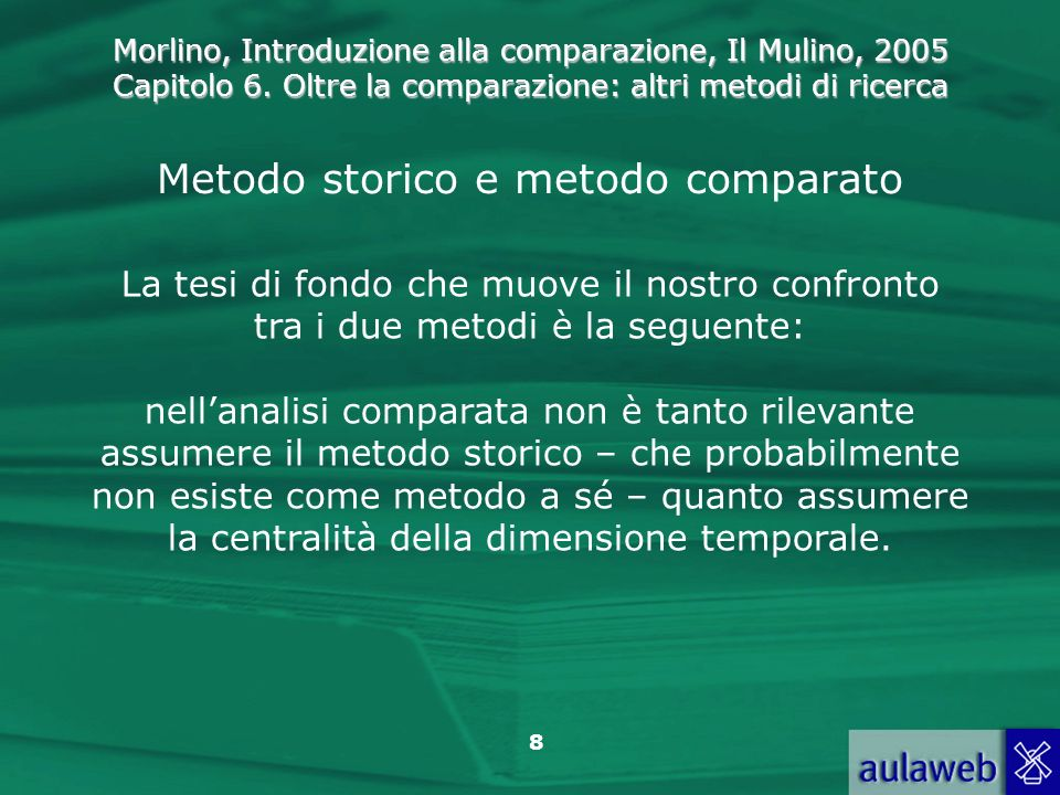 Metodo storico e metodo comparato