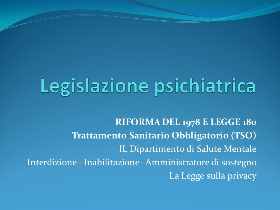 Legislazione psichiatrica