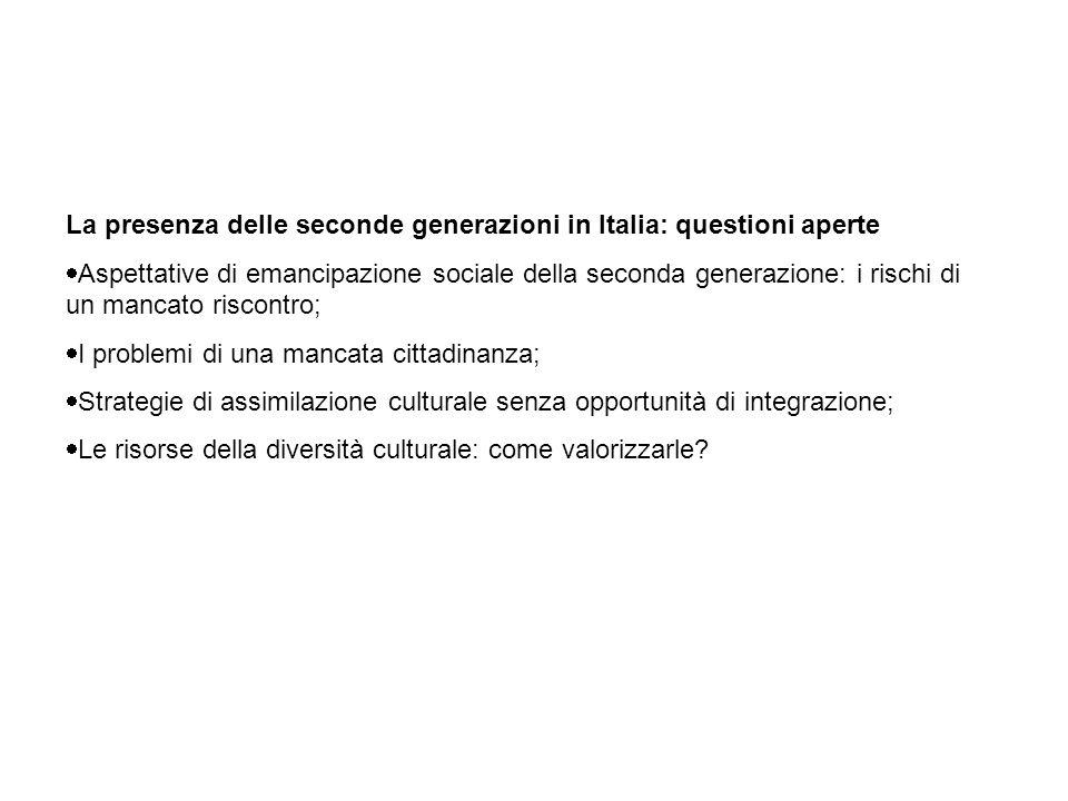 La presenza delle seconde generazioni in Italia: questioni aperte