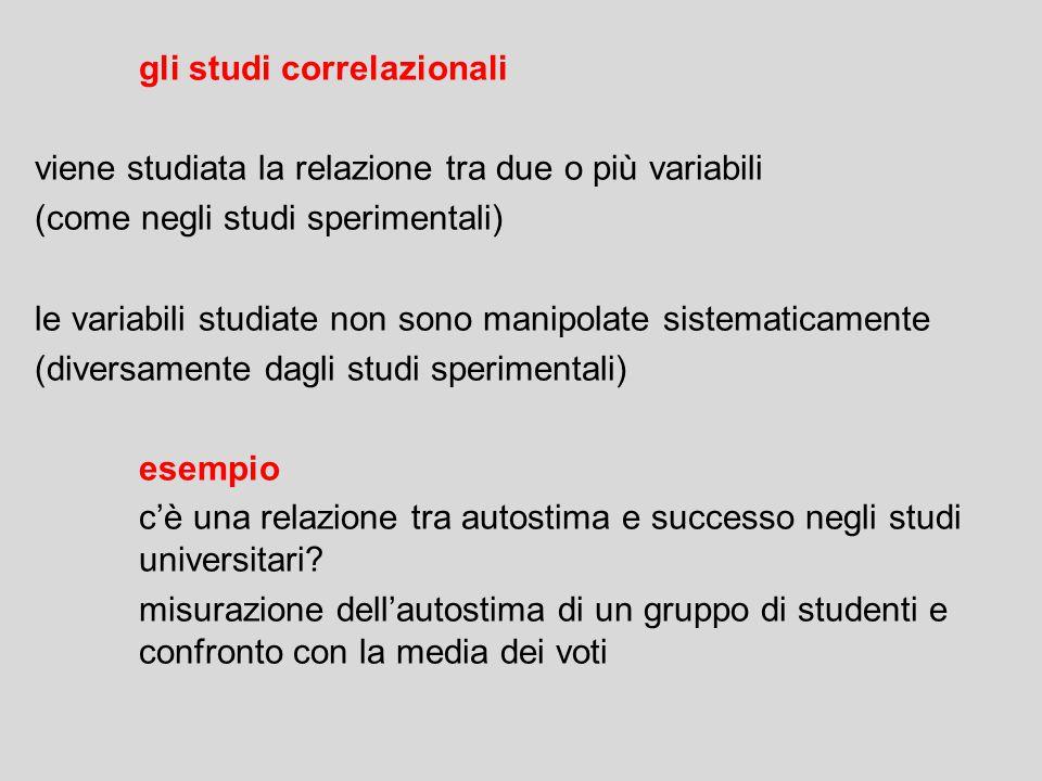 gli studi correlazionali