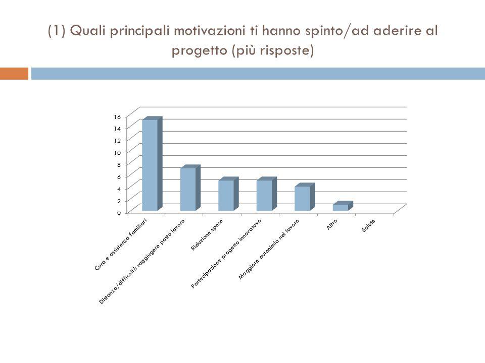 (1) Quali principali motivazioni ti hanno spinto/ad aderire al progetto (più risposte)