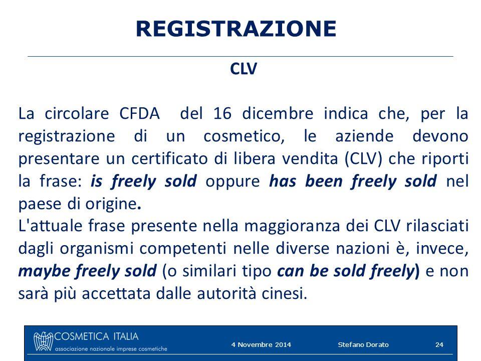 REGISTRAZIONE CLV.