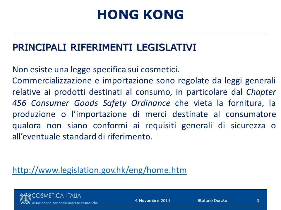 HONG KONG PRINCIPALI RIFERIMENTI LEGISLATIVI
