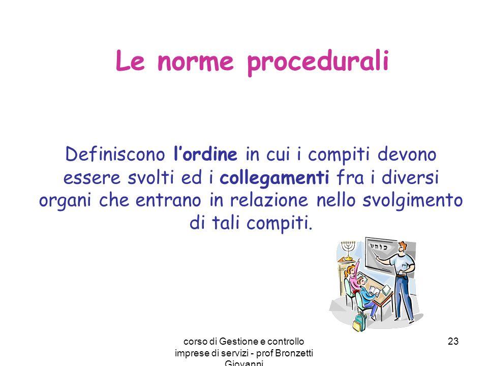 Le norme procedurali