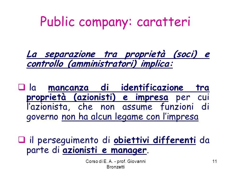 Public company: caratteri