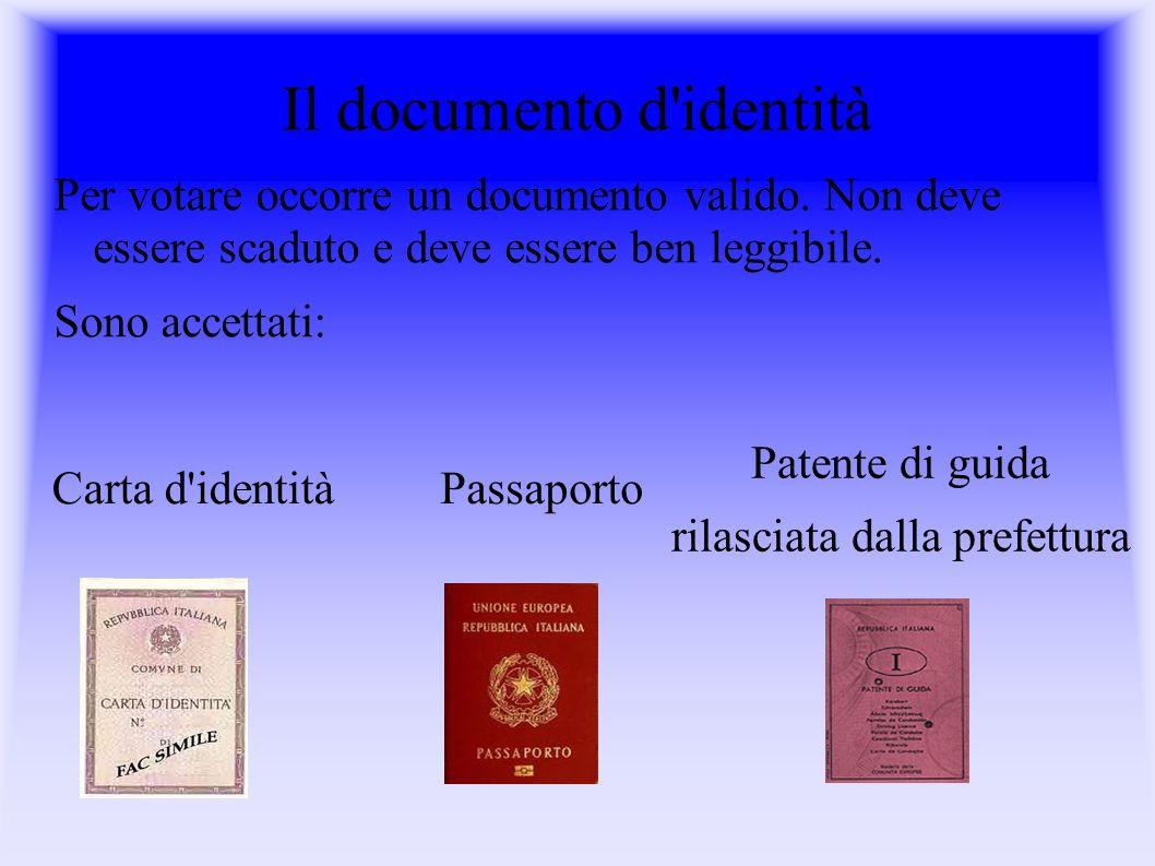 Il documento d identità