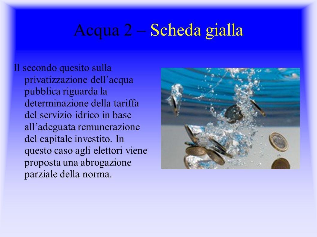 Acqua 2 – Scheda gialla