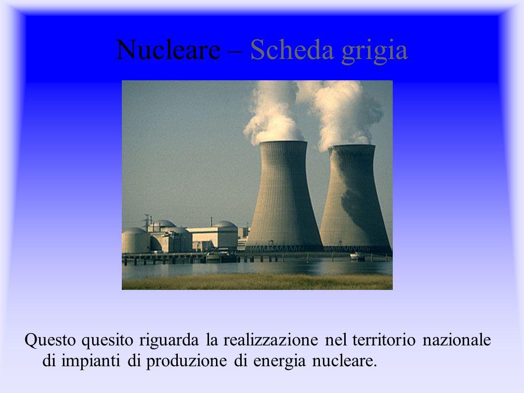 Nucleare – Scheda grigia