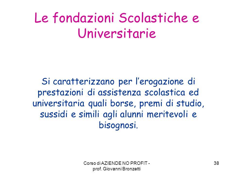 Le fondazioni Scolastiche e Universitarie