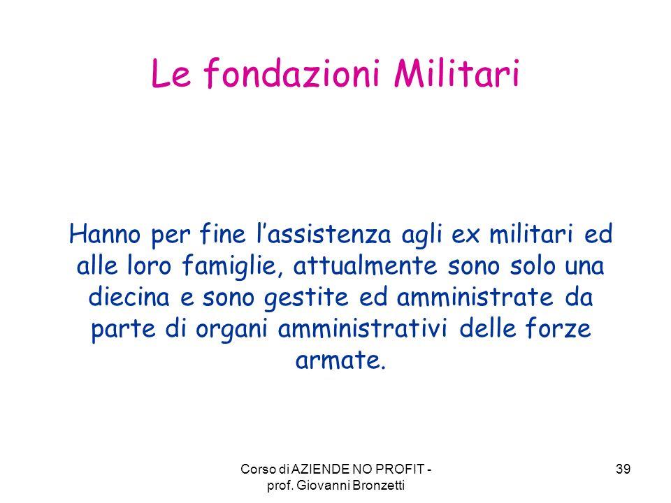 Le fondazioni Militari