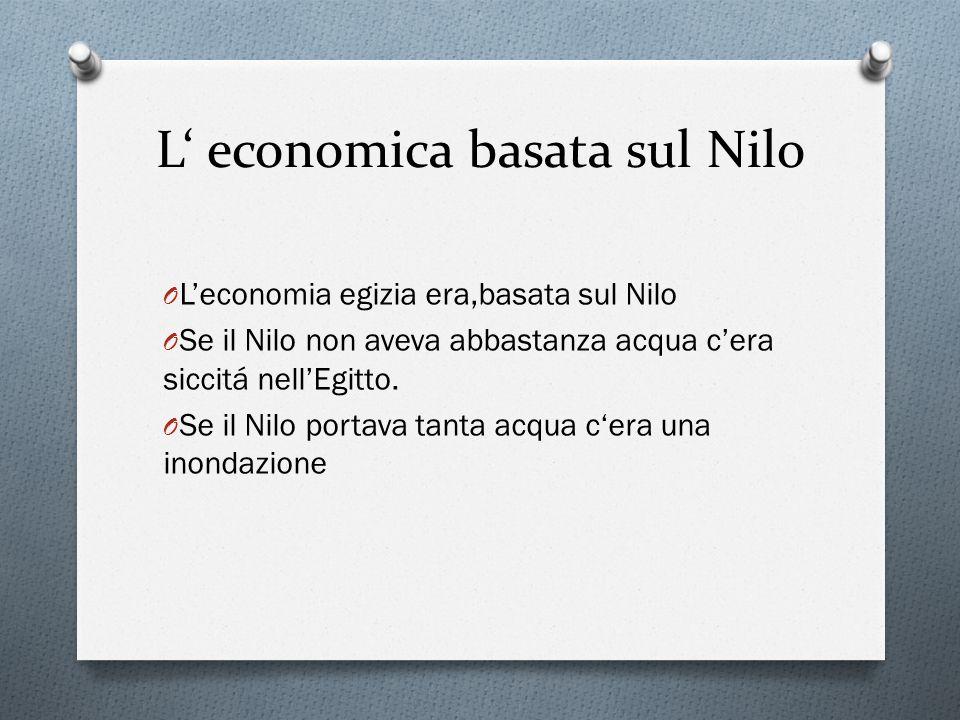 L' economica basata sul Nilo