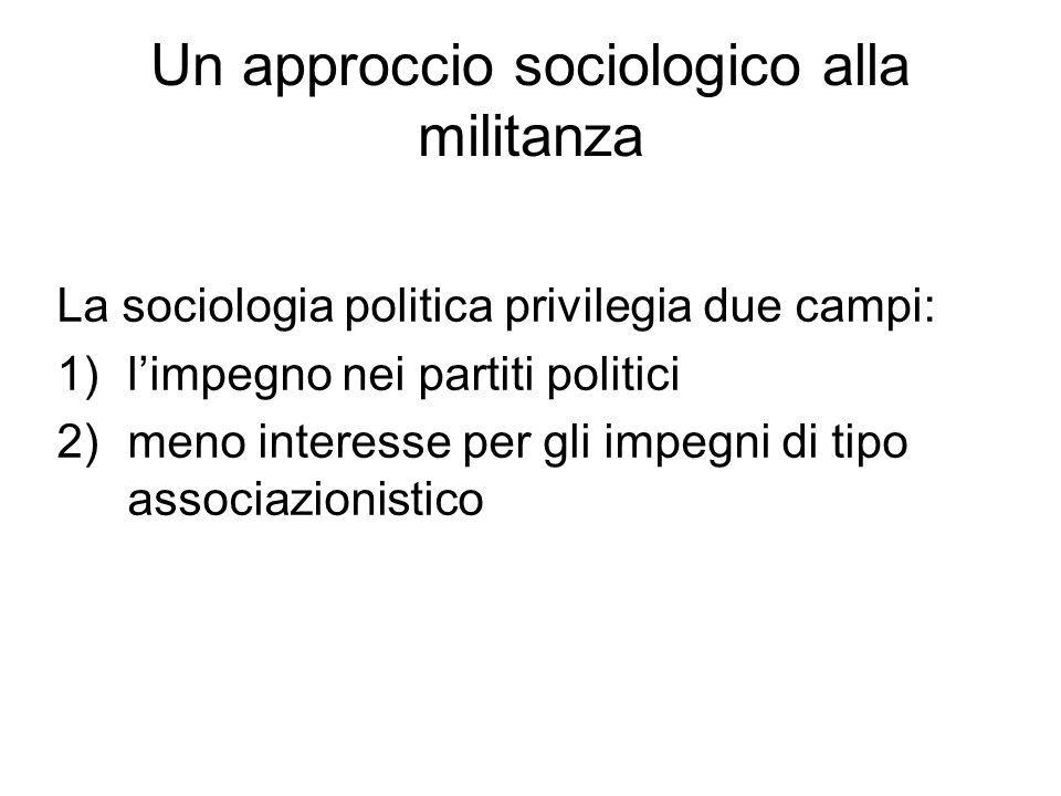 Un approccio sociologico alla militanza