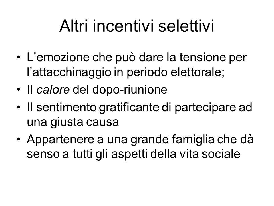 Altri incentivi selettivi