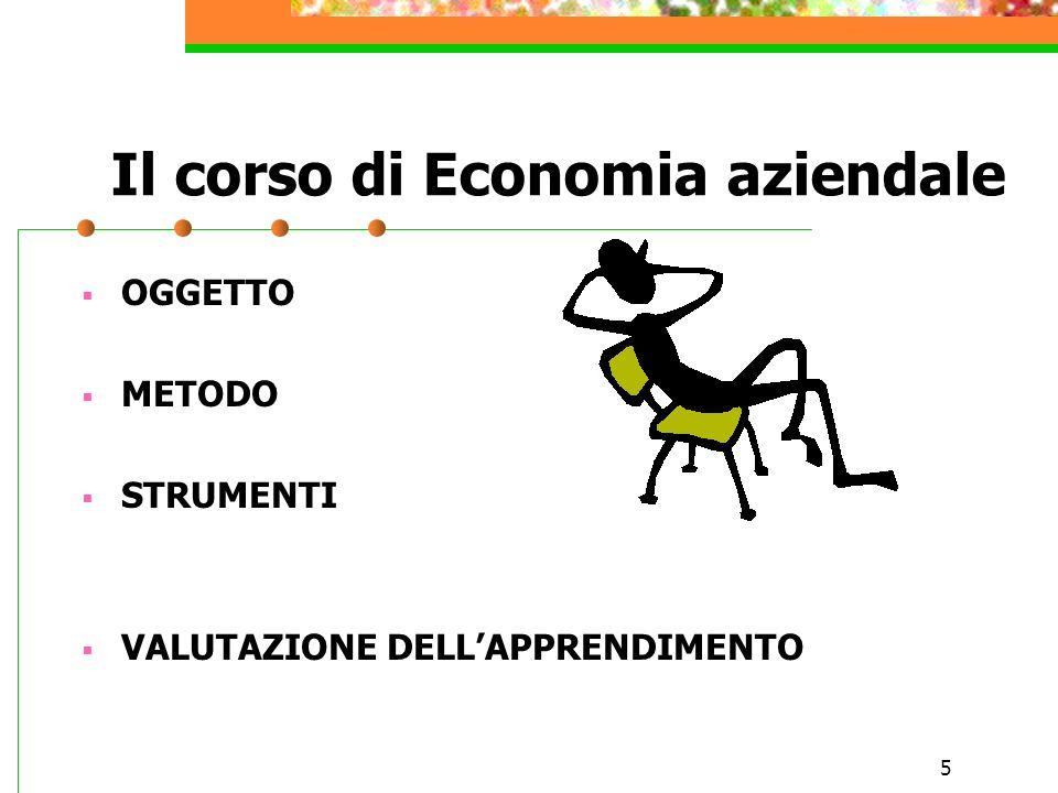 Il corso di Economia aziendale