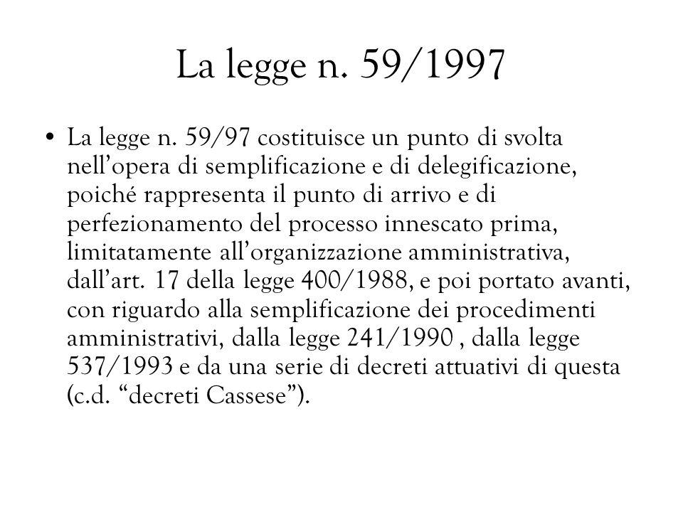La legge n. 59/1997