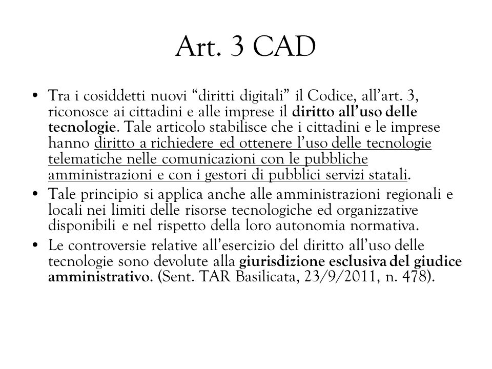 Art. 3 CAD