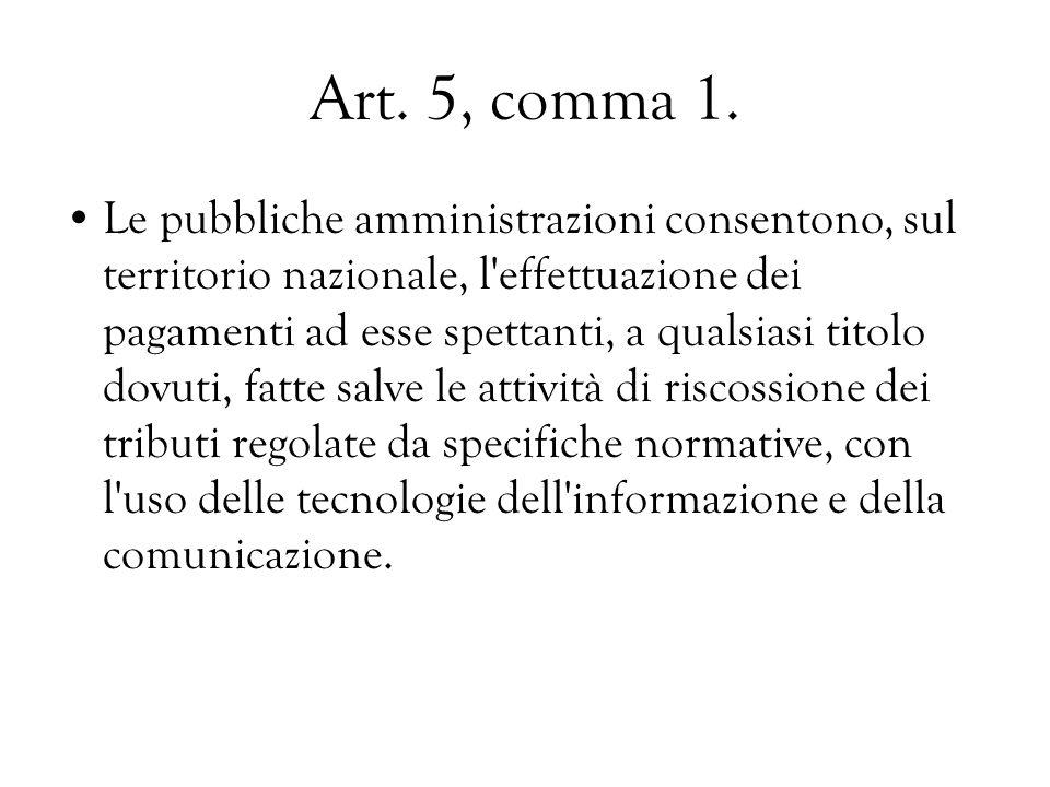 Art. 5, comma 1.