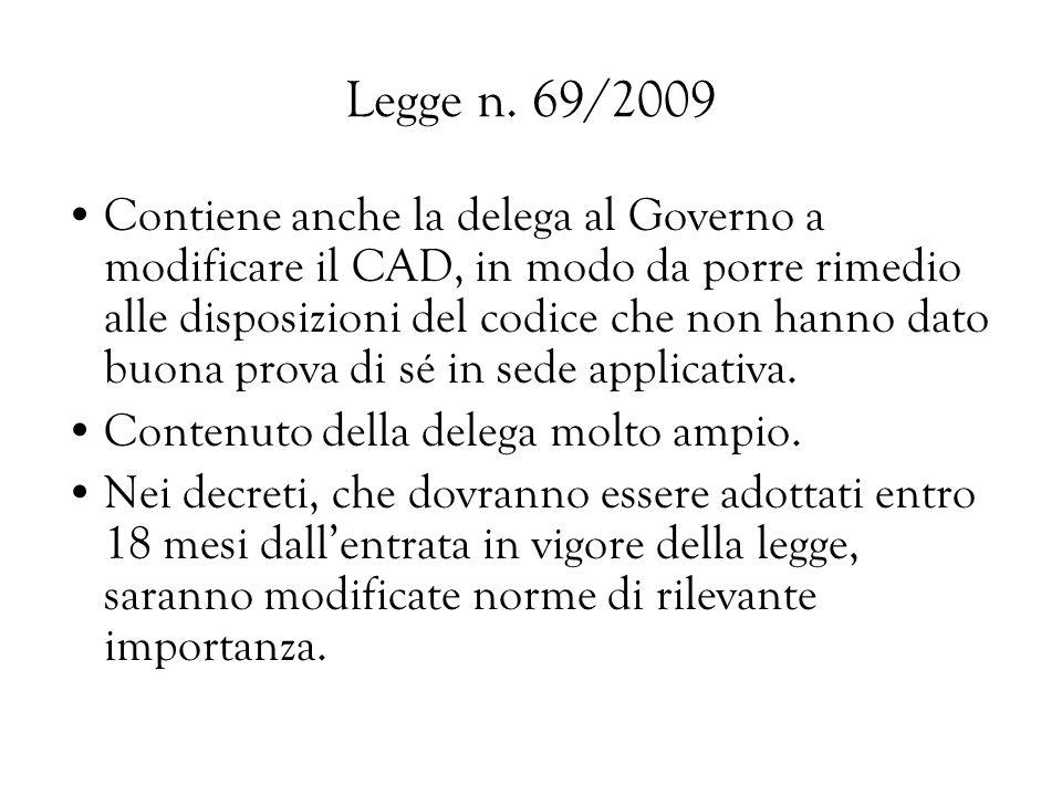 Legge n. 69/2009