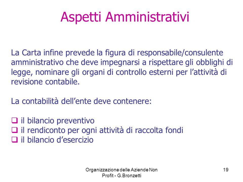 Aspetti Amministrativi