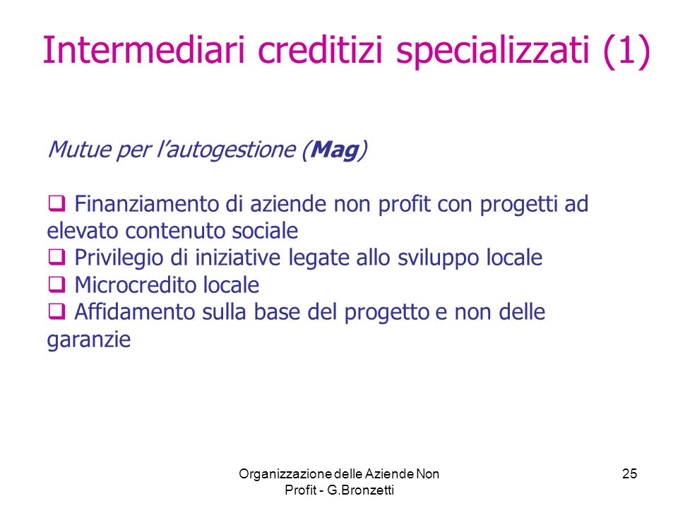 Intermediari creditizi specializzati (1)