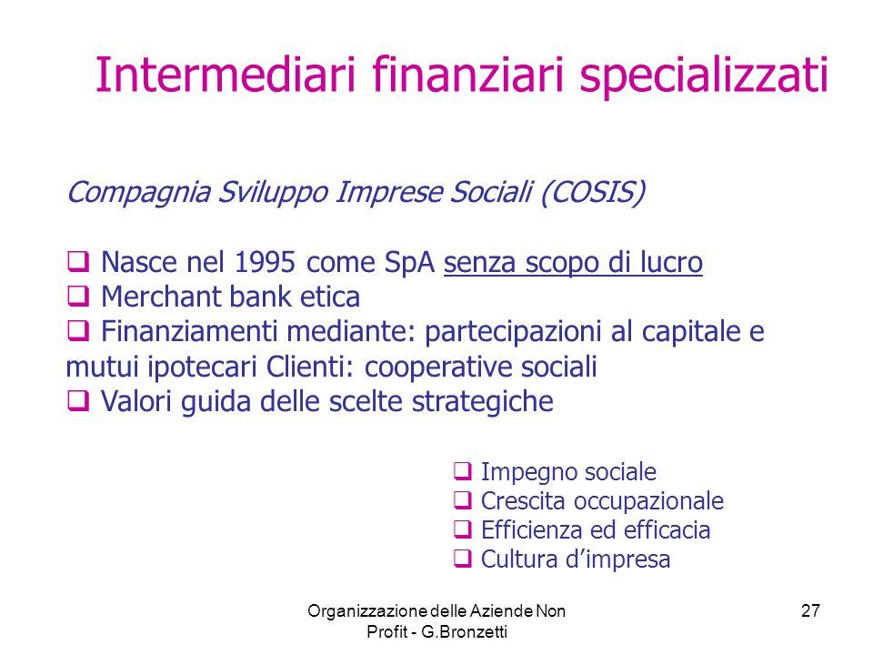 Intermediari finanziari specializzati