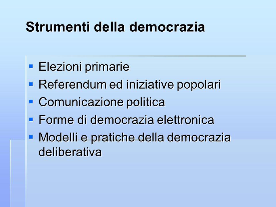 Strumenti della democrazia