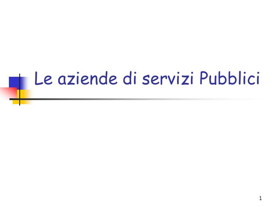Le aziende di servizi Pubblici