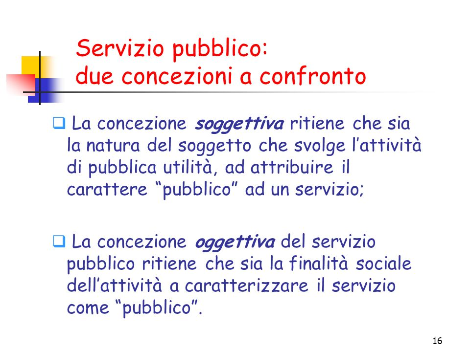 Servizio pubblico: due concezioni a confronto
