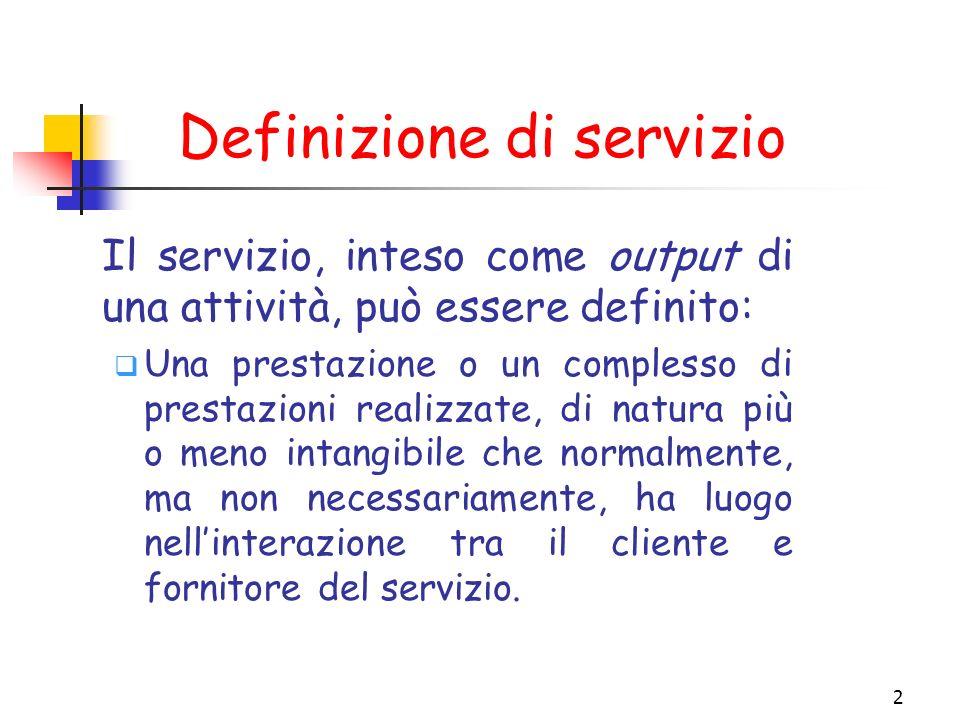 Definizione di servizio