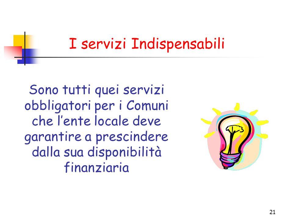I servizi Indispensabili