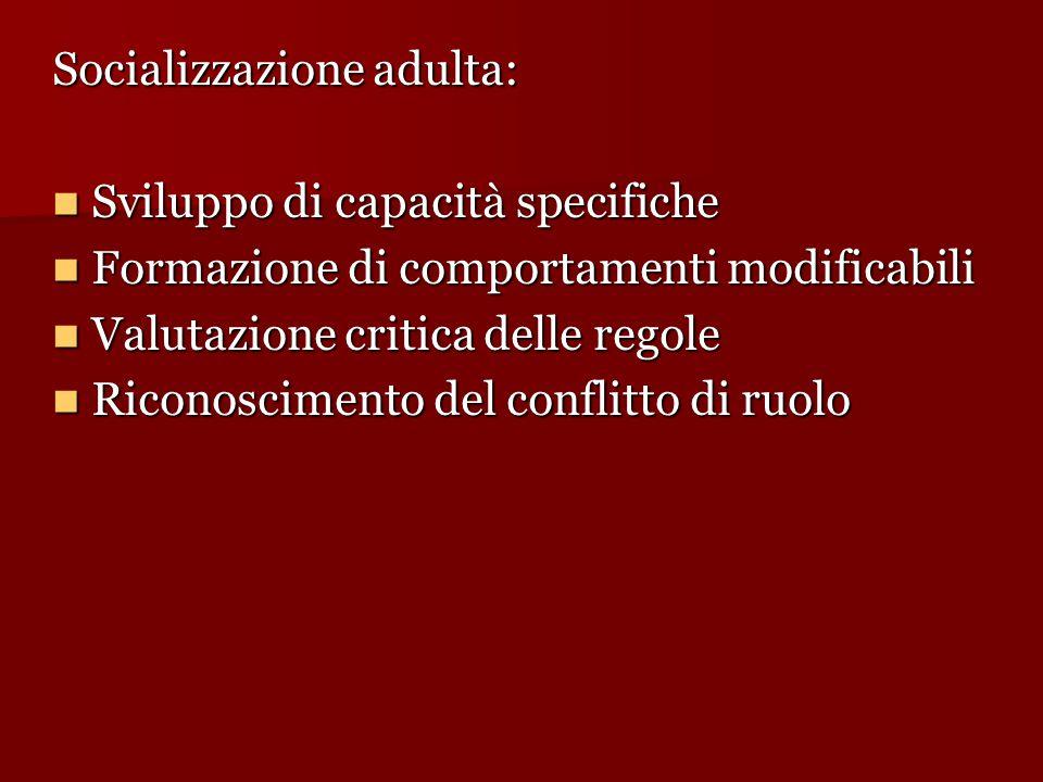 Socializzazione adulta: