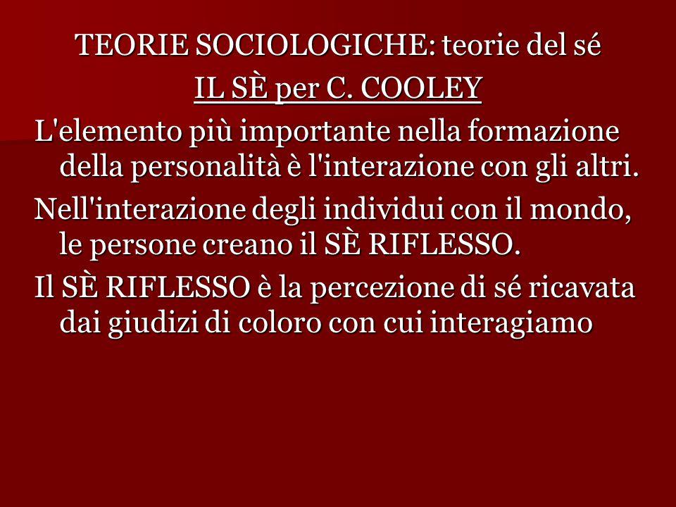 TEORIE SOCIOLOGICHE: teorie del sé