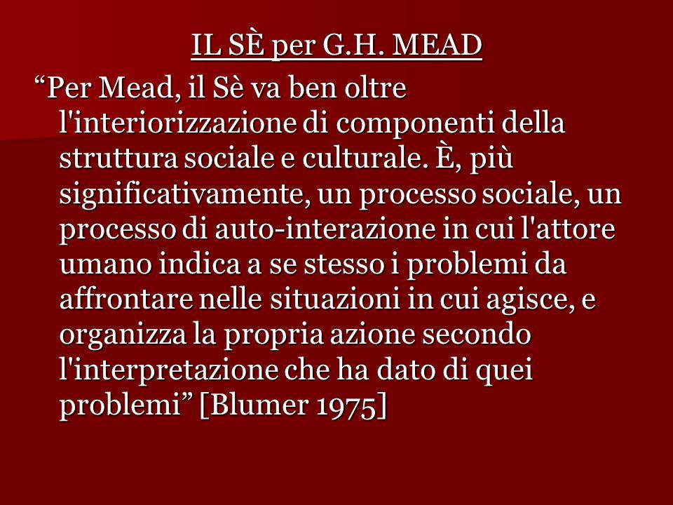 IL SÈ per G.H. MEAD