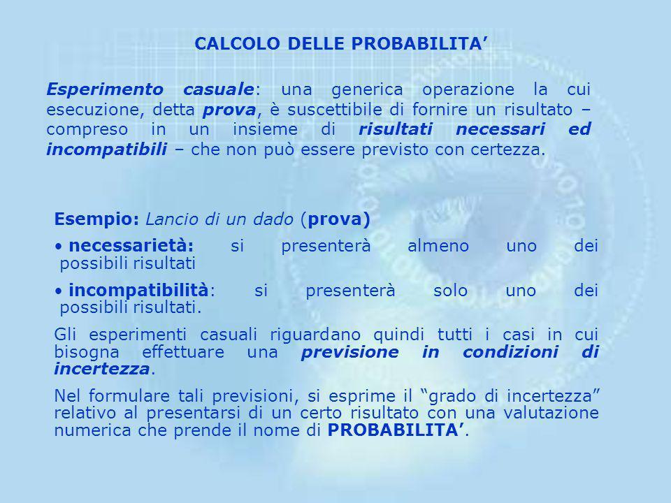 CALCOLO DELLE PROBABILITA'