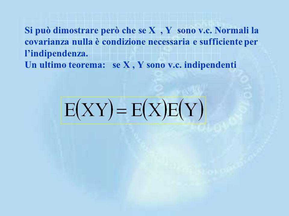 Si può dimostrare però che se X , Y sono v. c