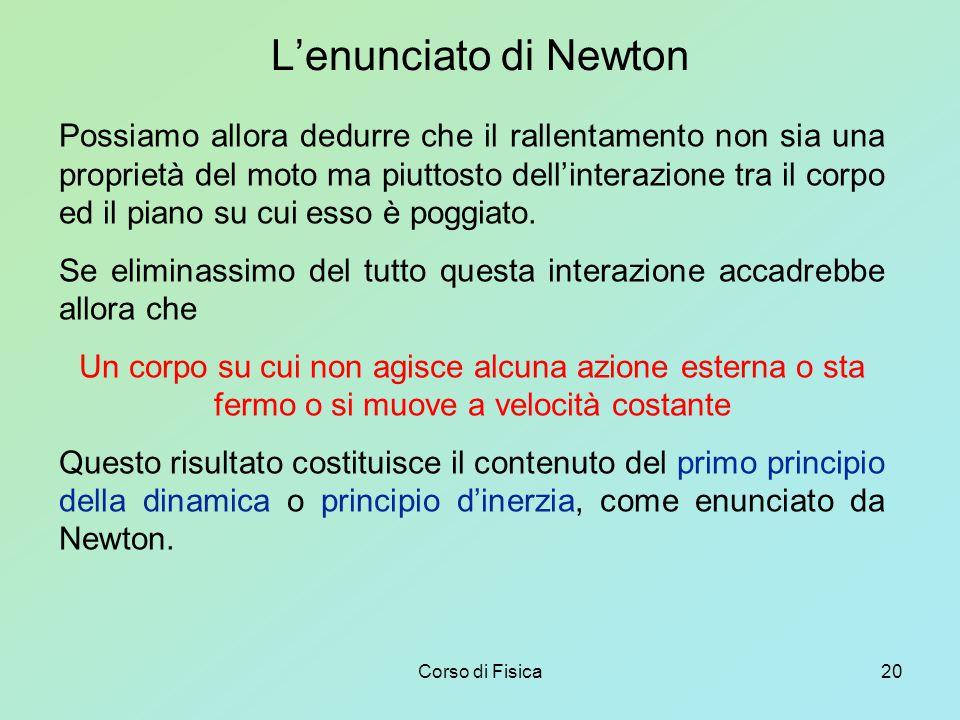 L'enunciato di Newton