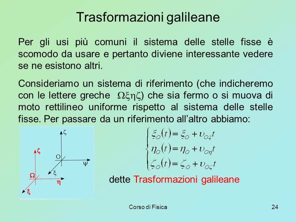 Trasformazioni galileane